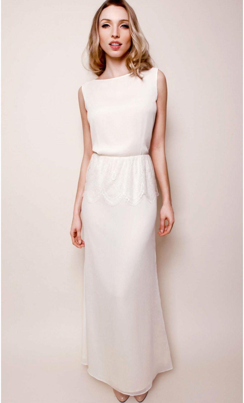Robe longue blanche vintage